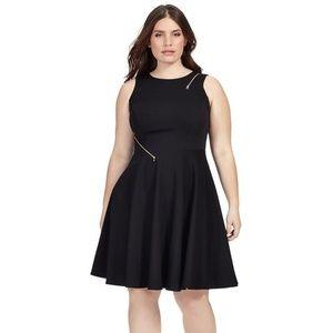 ABS Allen Schwartz Zipper Detail Fit & Flare Dress